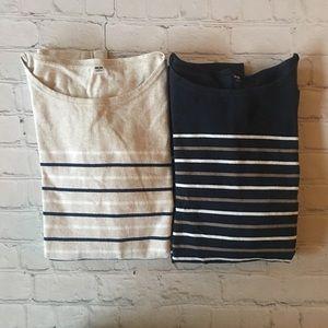 Uniqlo striped long sleeve tee shirt bundle